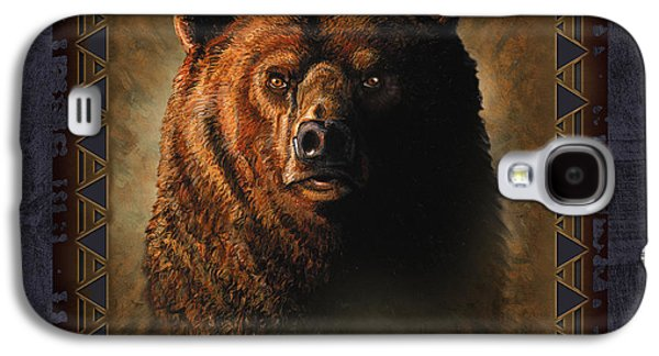 Wyoming Paintings Galaxy S4 Cases - Grizzly Lodge Galaxy S4 Case by JQ Licensing