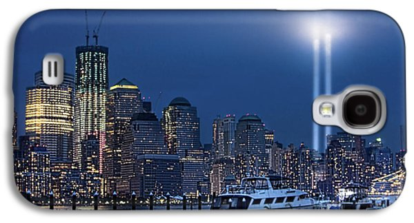 Wtc 11 Galaxy S4 Cases - Ground Zero Tribute Lights and the Freedom Tower Galaxy S4 Case by Chris Lord