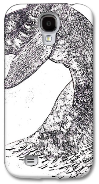 Behind The Scenes Drawings Galaxy S4 Cases - Head Of Herd Galaxy S4 Case by Al Goldfarb