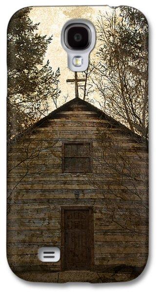 Grungy Hand Hewn Log Chapel Galaxy S4 Case by John Stephens