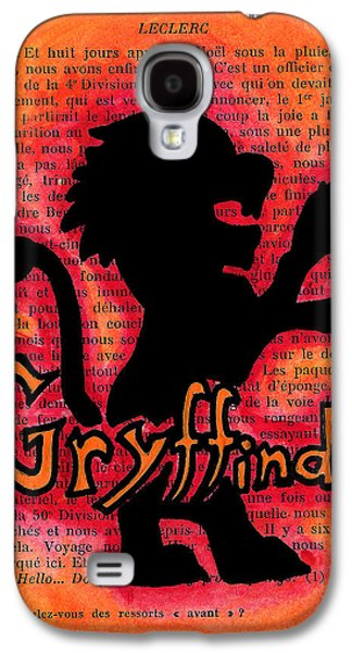 Mix Medium Drawings Galaxy S4 Cases - Gryffindor Lion Galaxy S4 Case by Jera Sky