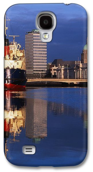 Boats In Reflecting Water Galaxy S4 Cases - Guinness Boat, Custom House, Liberty Galaxy S4 Case by The Irish Image Collection