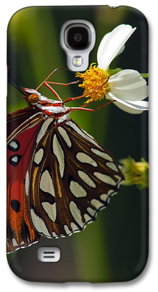 Marble Eye Galaxy S4 Cases - Gulf Fritillary Galaxy S4 Case by Melanie Viola