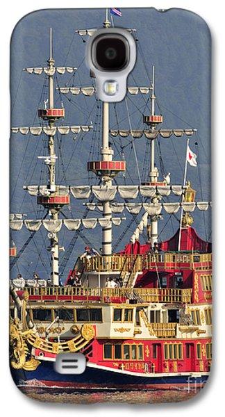 Pirate Ships Galaxy S4 Cases - Hakone Sightseeing Cruise ship sailing on Lake Ashi Hakone Japan Galaxy S4 Case by Andy Smy