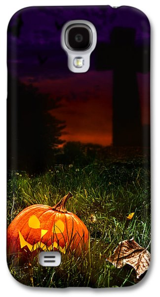 Cemetary Galaxy S4 Cases - Halloween Cemetery Galaxy S4 Case by Amanda And Christopher Elwell