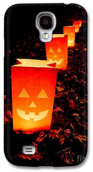 Halloween Photographs Galaxy S4 Cases - Halloween Paper Lanterns Galaxy S4 Case by Edward Fielding
