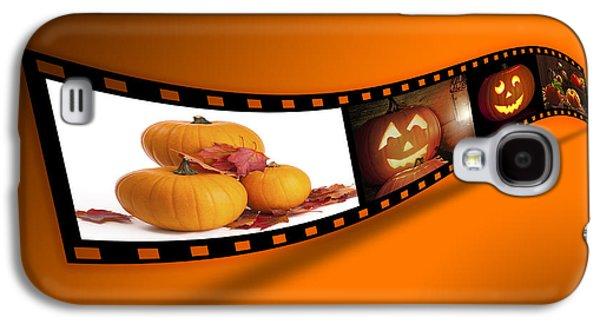 Filmstrip Galaxy S4 Cases - Halloween Pumpkin Film Strip Galaxy S4 Case by Amanda And Christopher Elwell