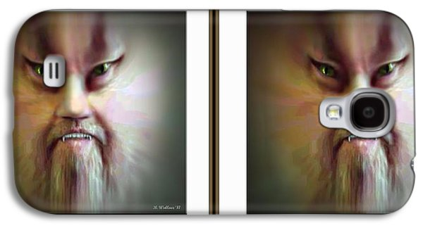 Morphing Galaxy S4 Cases - Halloween Self Portrait - Gently cross your eyes and focus on the middle image Galaxy S4 Case by Brian Wallace