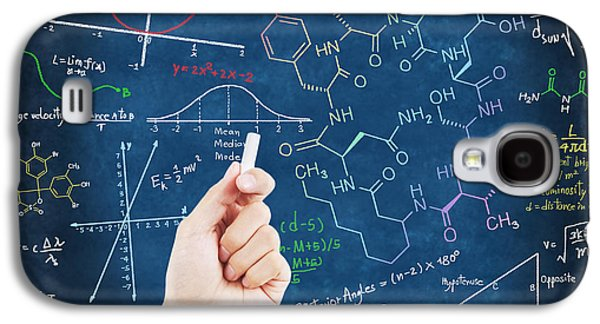 Green Pastels Galaxy S4 Cases - Hand writing science formulas Galaxy S4 Case by Setsiri Silapasuwanchai