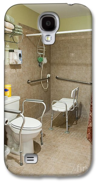 Shower Curtain Galaxy S4 Cases - Handicapped-Accessible Bathroom Galaxy S4 Case by Andersen Ross