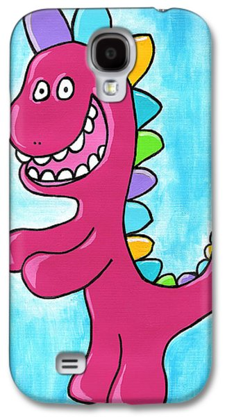 Character Portraits Drawings Galaxy S4 Cases - Happosaur Galaxy S4 Case by Jera Sky