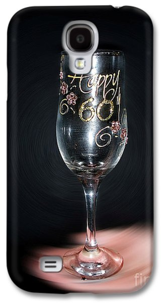 Champagne Glasses Galaxy S4 Cases - Happy 60th Birthday Galaxy S4 Case by Kaye Menner