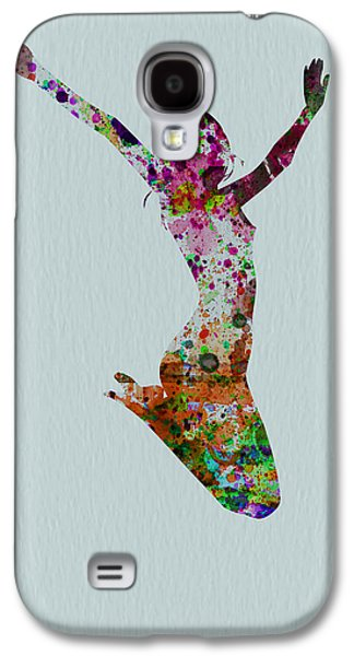 Ballerinas Galaxy S4 Cases - Happy dance Galaxy S4 Case by Naxart Studio