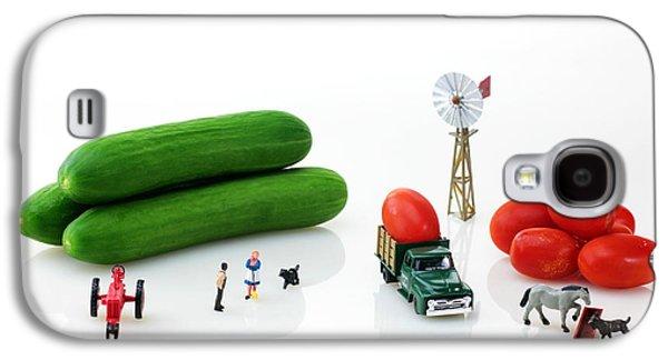 Tractor Prints Galaxy S4 Cases - Happy Farm Galaxy S4 Case by Paul Ge