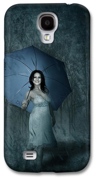 Smiling Mixed Media Galaxy S4 Cases - Happy Girl Galaxy S4 Case by Svetlana Sewell