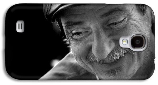 Contemplative Photographs Galaxy S4 Cases - Happy Man Galaxy S4 Case by Kelly Hazel