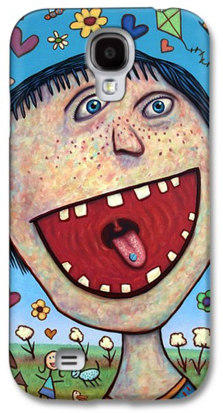 Pill Galaxy S4 Cases - Happy Pill Galaxy S4 Case by James W Johnson