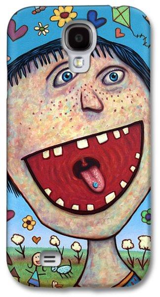 Happy Galaxy S4 Cases - Happy Pill Galaxy S4 Case by James W Johnson