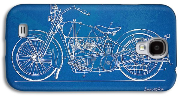 Open Galaxy S4 Cases - Harley-Davidson Motorcycle 1928 Patent Artwork Galaxy S4 Case by Nikki Marie Smith