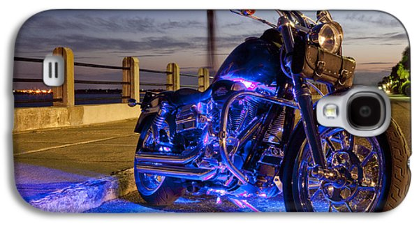 Light Photographs Galaxy S4 Cases - Harley Davidson Motorcycle Galaxy S4 Case by Dustin K Ryan