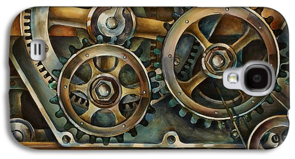 Gear Paintings Galaxy S4 Cases - Harmony 2 Galaxy S4 Case by Michael Lang