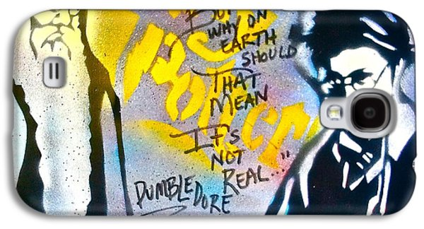 First Amendment Paintings Galaxy S4 Cases - Harry Potter with Dumbledore Galaxy S4 Case by Tony B Conscious