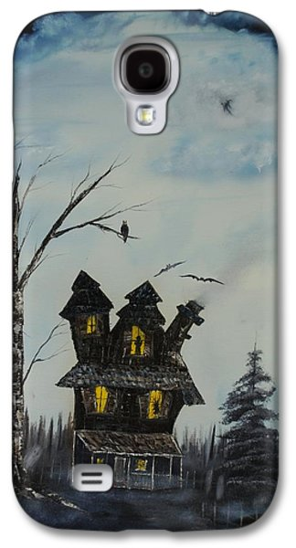 Haunted House Paintings Galaxy S4 Cases - Haunted House 2007 Galaxy S4 Case by Shawna Burkhart