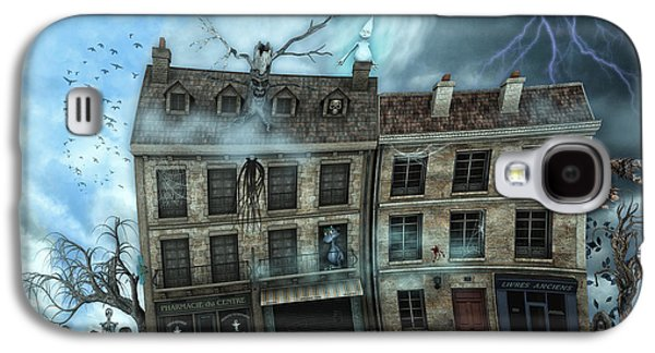 Haunted House Digital Galaxy S4 Cases - Haunted House Galaxy S4 Case by Jutta Maria Pusl