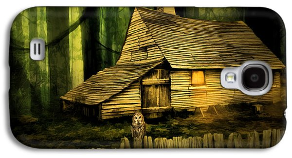 Ghostly Galaxy S4 Cases - Haunted Shack Galaxy S4 Case by Lourry Legarde