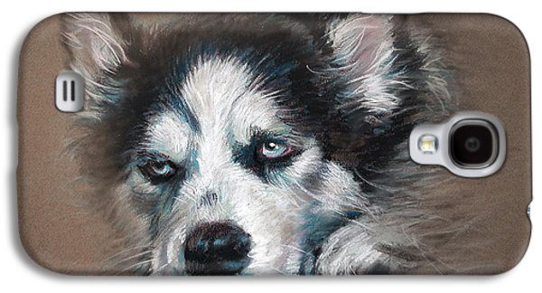 Dogs Pastels Galaxy S4 Cases - He is Watching You  Galaxy S4 Case by Ylli Haruni