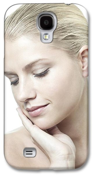 Chin Up Galaxy S4 Cases - Healthy Young Woman Galaxy S4 Case by