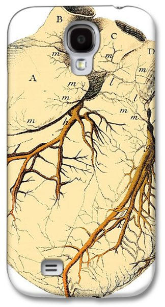 Physiology Galaxy S4 Cases - Heart Anatomy, 18th Century Galaxy S4 Case by