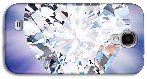 Gift Jewelry Galaxy S4 Cases - Heart Diamond Galaxy S4 Case by Setsiri Silapasuwanchai