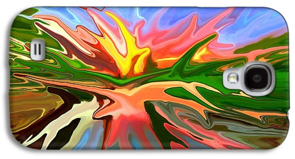 Sunset Abstract Mixed Media Galaxy S4 Cases - Heat Wave Galaxy S4 Case by Chris Butler