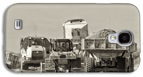 Machinery Galaxy S4 Cases - Heavy Equipment Meeting Galaxy S4 Case by Patrick M Lynch
