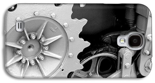 Machinery Galaxy S4 Cases - Heavy Metal in Gray Galaxy S4 Case by Valerie Fuqua