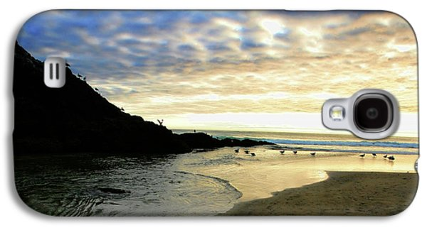 Sunset Posters Galaxy S4 Cases - Heceta Head at Dusk Galaxy S4 Case by Bonnie Bruno
