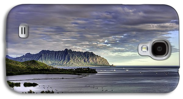 Fish Pond Galaxy S4 Cases - Heeia and Kualoa 2nd crop Galaxy S4 Case by Dan McManus
