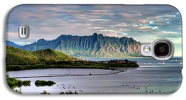 Fish Pond Galaxy S4 Cases - Heeia Fish Pond and Kualoa Galaxy S4 Case by Dan McManus