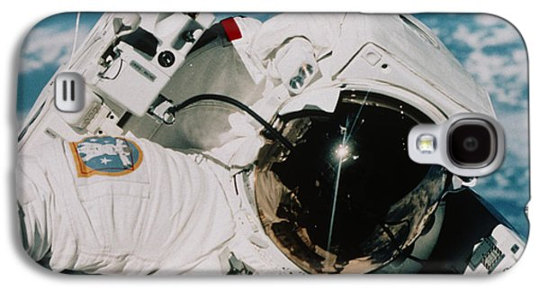 Astronomy Galaxy S4 Cases - Helmet Of Astronaut Mccandless Galaxy S4 Case by NASA / Science Source
