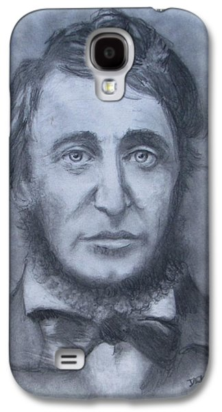 Jack Skinner Drawings Galaxy S4 Cases - Henry David Thoreau Galaxy S4 Case by Jack Skinner