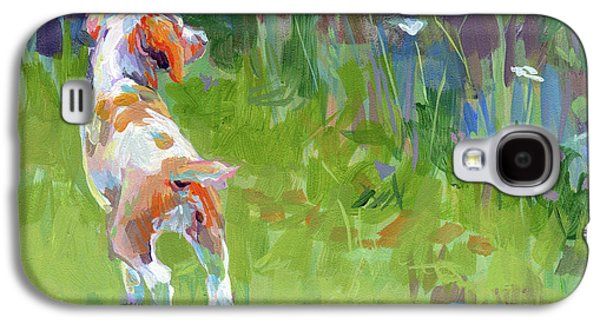 Spaniels Galaxy S4 Cases - Her First Point Galaxy S4 Case by Kimberly Santini