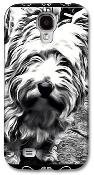 Westie Digital Galaxy S4 Cases - Heres looking at you Galaxy S4 Case by Tisha McGee