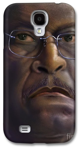 Republican Party Galaxy S4 Cases - Herman Razing Cain Galaxy S4 Case by Reggie Duffie