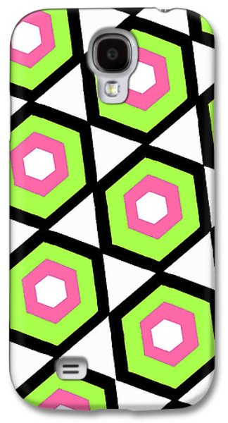 Louisa Galaxy S4 Cases - Hexagon Galaxy S4 Case by Louisa Knight