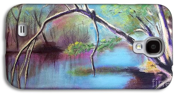Landscape Acrylic Prints Pastels Galaxy S4 Cases - Hidden River At Sharon Mills Galaxy S4 Case by Yoshiko Mishina