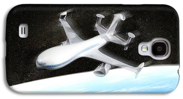 High Altitude Passenger Plane, Artwork Galaxy S4 Case by Christian Darkin