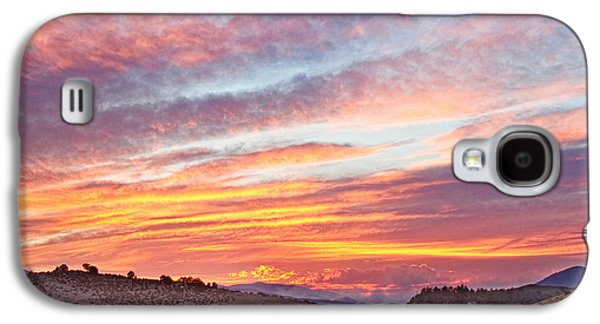 Fort Collins Galaxy S4 Cases - High Park Wildfire Sunset Sky Galaxy S4 Case by James BO  Insogna