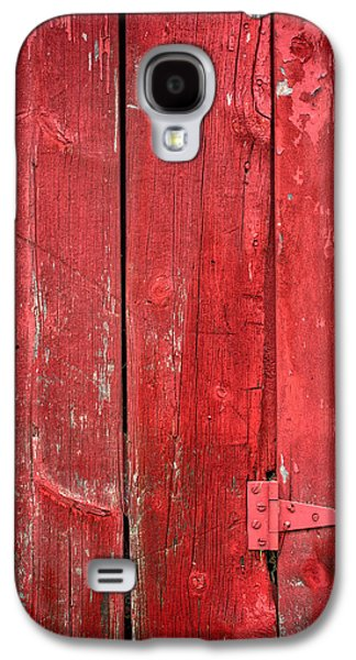 Red Barns Galaxy S4 Cases - Hinge on a Red Barn Galaxy S4 Case by Steve Gadomski