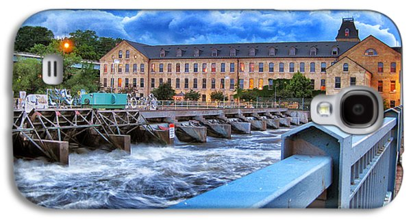 Appleton Photographs Galaxy S4 Cases - Historic Fox River Mills Galaxy S4 Case by Shutter Happens Photography